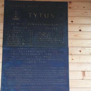 Skład i zdrowotne właścowości rymanowskiej wody Tytus.