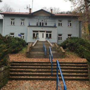 """Szpital uzdrowiskowy """"Opatrzność"""" w Rymanowie-Zdroju."""